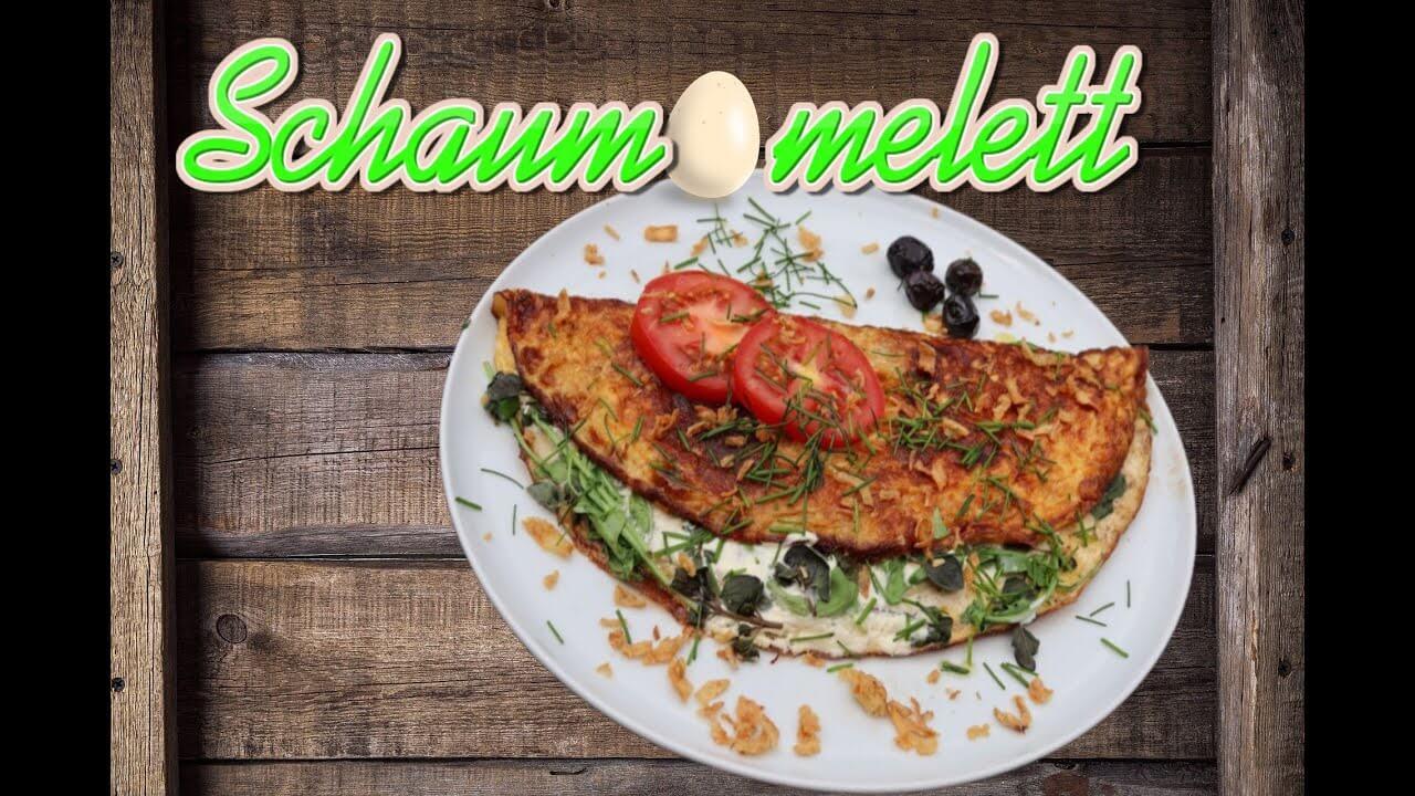 Gefülltes Schaumomelett, Omelett braten, Rezept