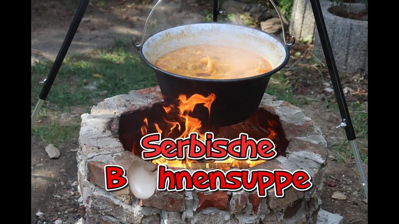 Serbische Bohnensuppe, Originalrezept, Bohneneintopf, pasulj, recept