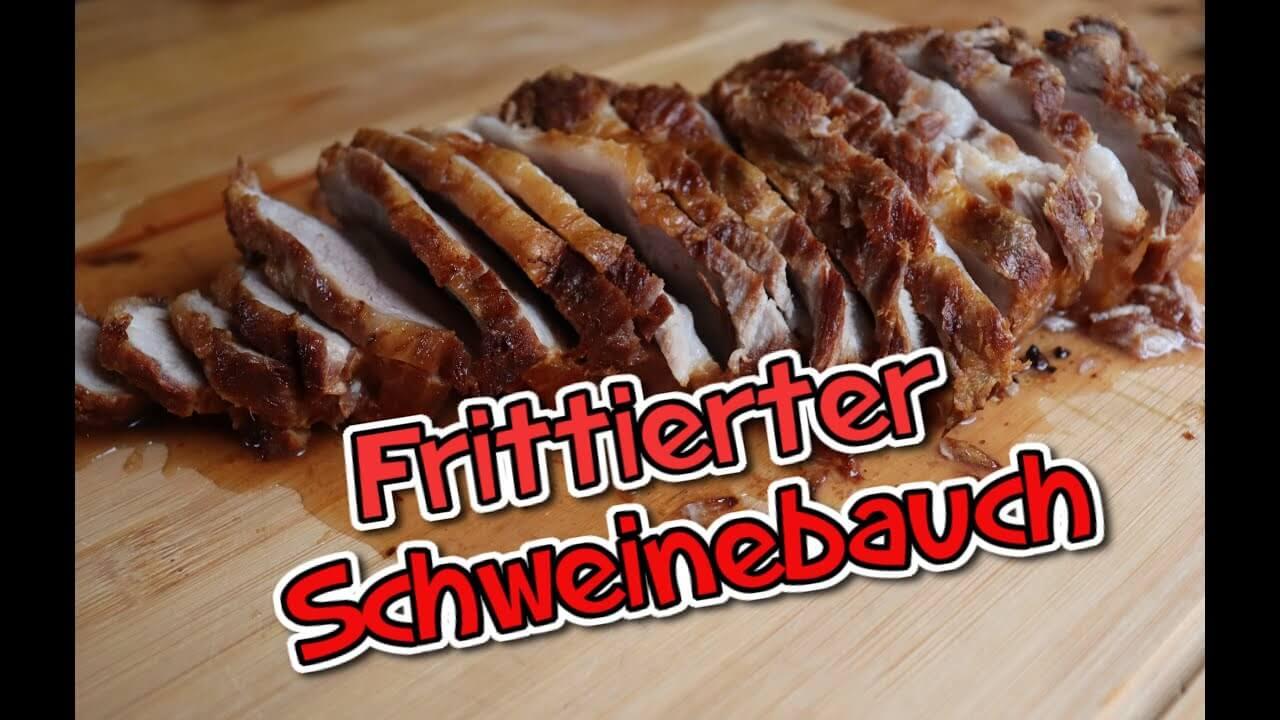 Frittierter Schweinebauch, Bauchfleisch, Rezept, Schweinebauch, knusprig