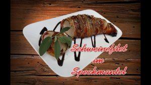 schweinefilet im speckmantel, schweinefilet speck, schweinefilet bacon, schweinefilet rezept, rezept, schweinefilet, speckmantel, mit speck umwickelt, wrapped, recipe pork fillet