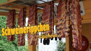 Schweinerippchen kalträuchern, geräucherte Schweinerippchen, Rippchen räuchern, Rippchen kalträuchern, kalt räuchern, räuchern, Anleitung, Rezept, Räucherschrank, geräuchert, Schweinerippchen