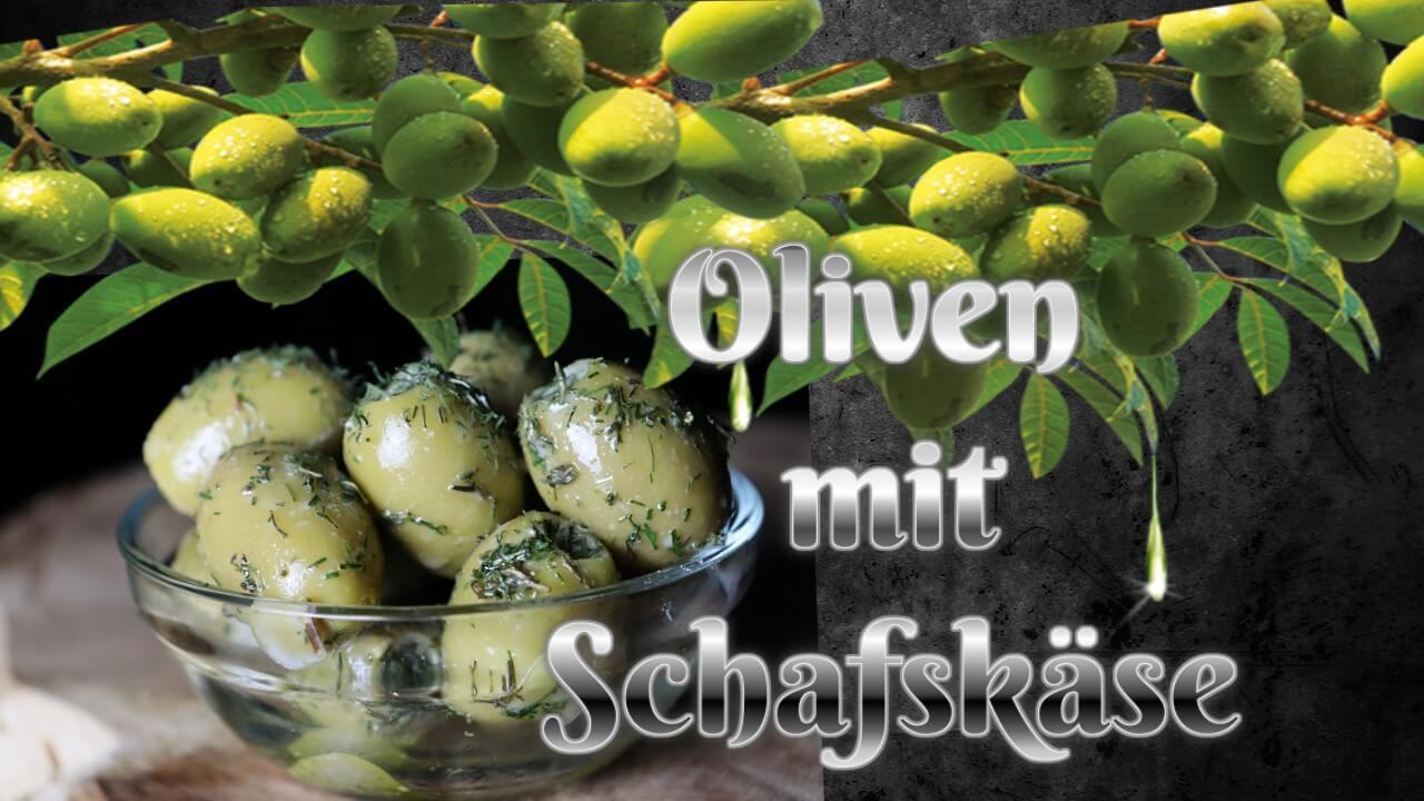 eingelegte oliven, oliven mit schafskäse, oliven einlegen, rezept, gefüllte oliven