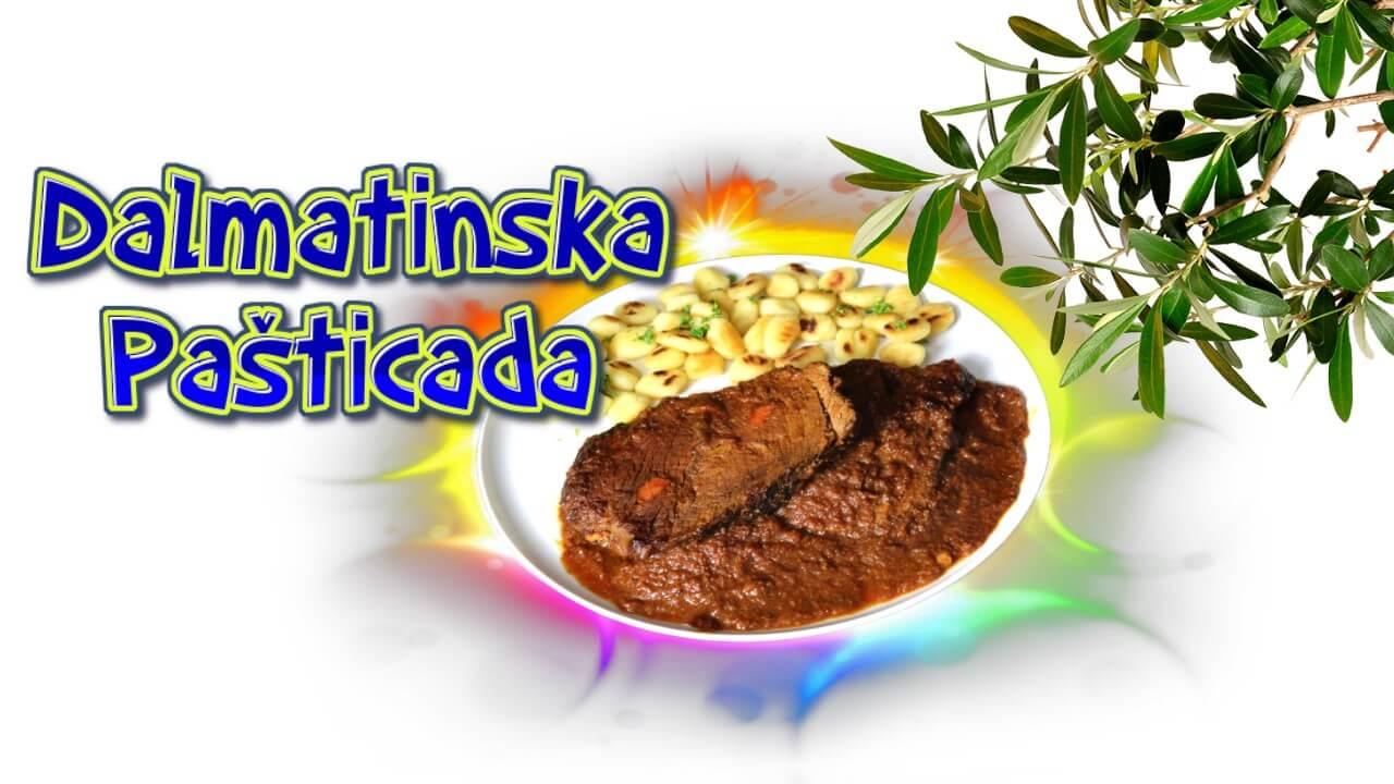Dalmatinische Pasticada, Pasticada, recept, Rezept, original, Originalrezept, originalni recept, dalmatinska pasticada, kochen, Sauerbraten, kroatisch, Schmorfleisch, Rind, Eintopf, Festtagsessen