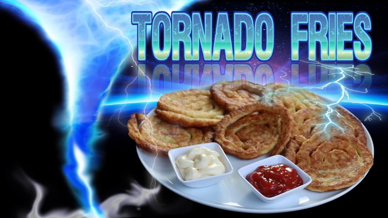 Tornado Kartoffeln, Tornado Fries, Spiralkartoffeln, Kartoffelschnecken, Rezept, recipe, Pommes, aus Kartoffeln, Kartoffelgericht, außergewöhnlich