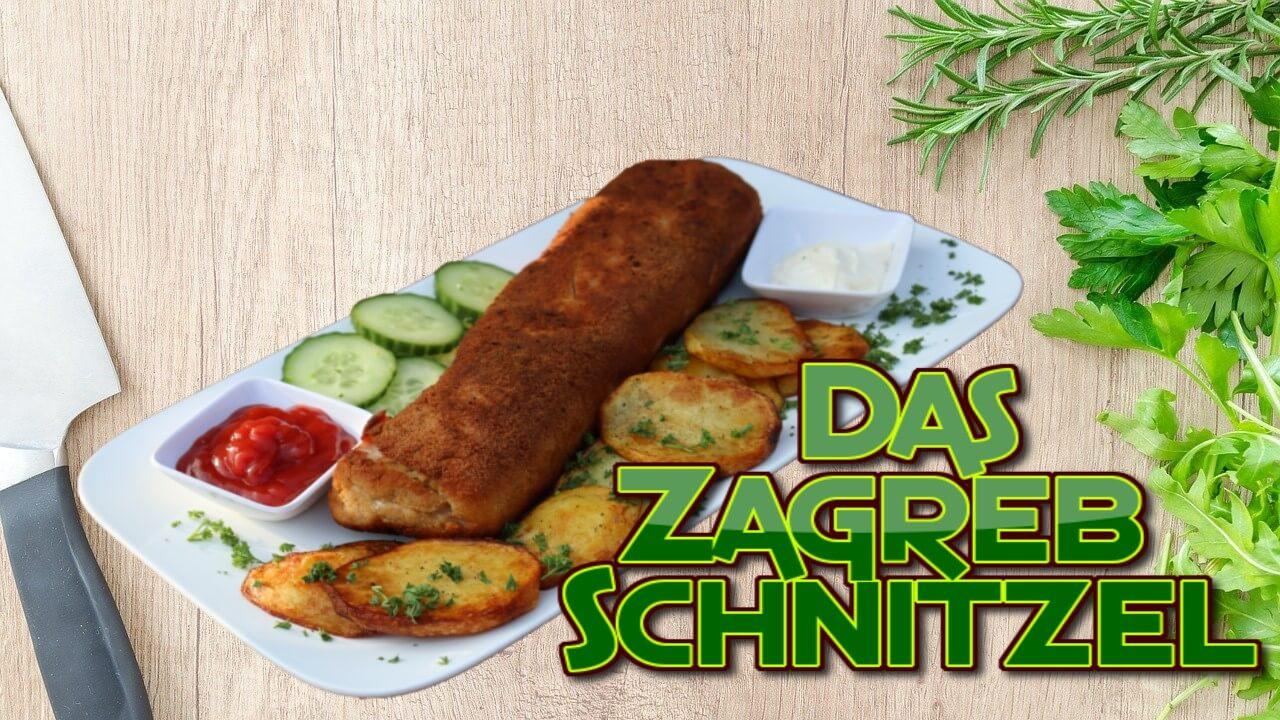 Zagreb Schnitzel, Zagreber Schnitzel, Zagrebacki odrezak, kroatisches Schnitzel, Schnitzel, gerollt, Rollschnitzel, recept, original, Originalrezept, Rezept