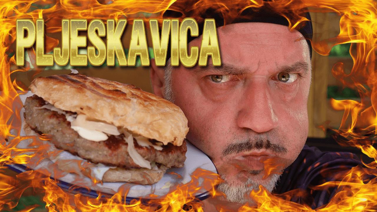 gegrillte Pljeskavica, Pljeskavica, Rezept, Pleskavitza, Balkanrezepte, Balkanrezept, serbische, Grillgericht, gegrillt